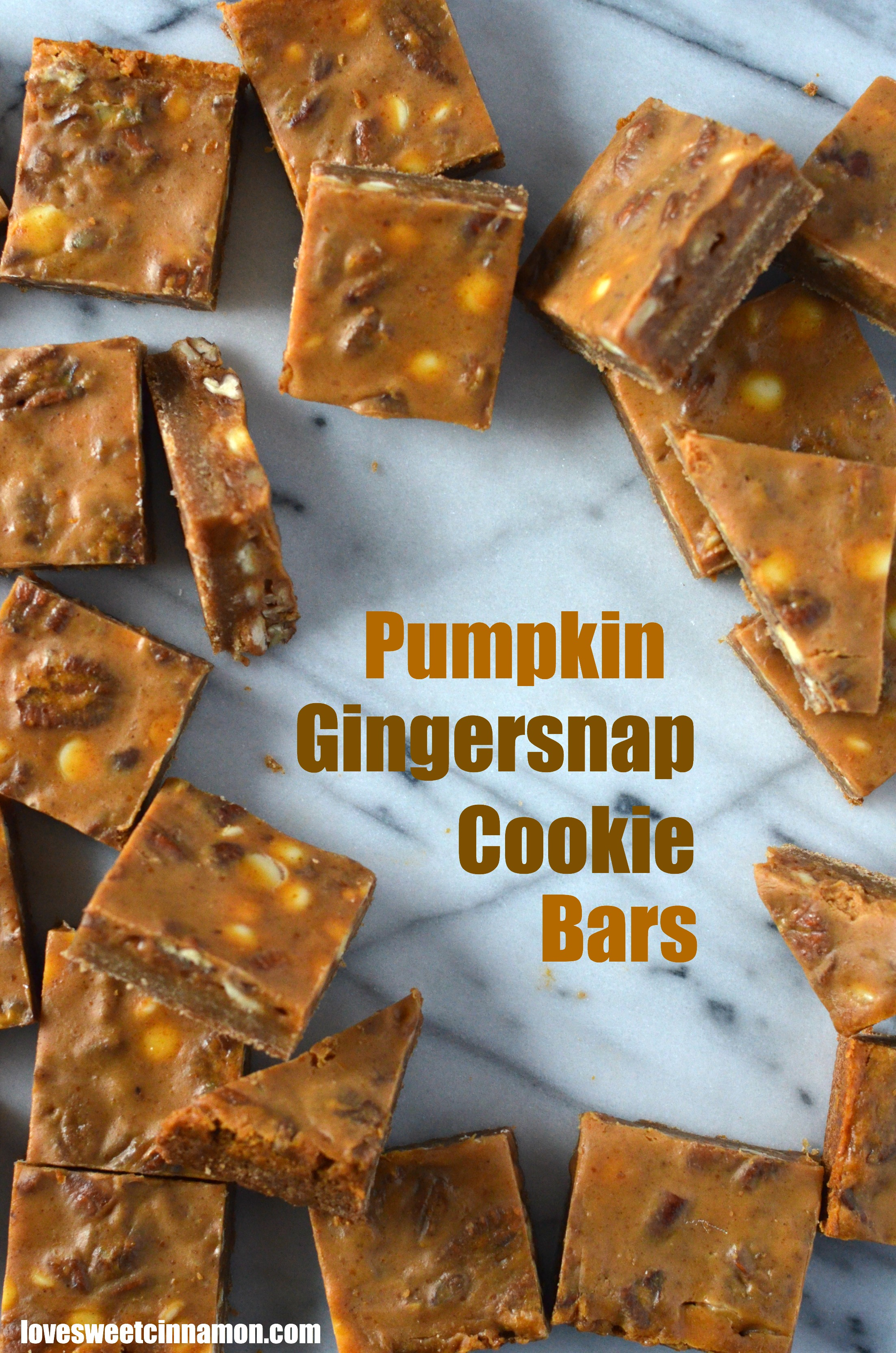 Pumpkin Gingersnap Cookie Bars | Sweet Cinnamon